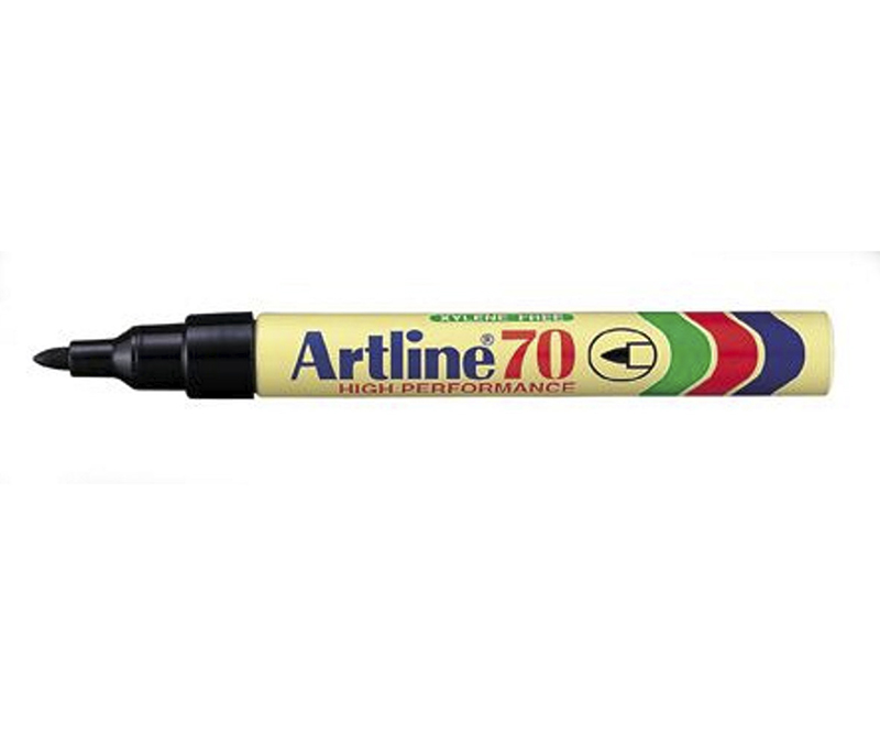 Artline 70 marker, Permanent marker, Sort 1,5mm