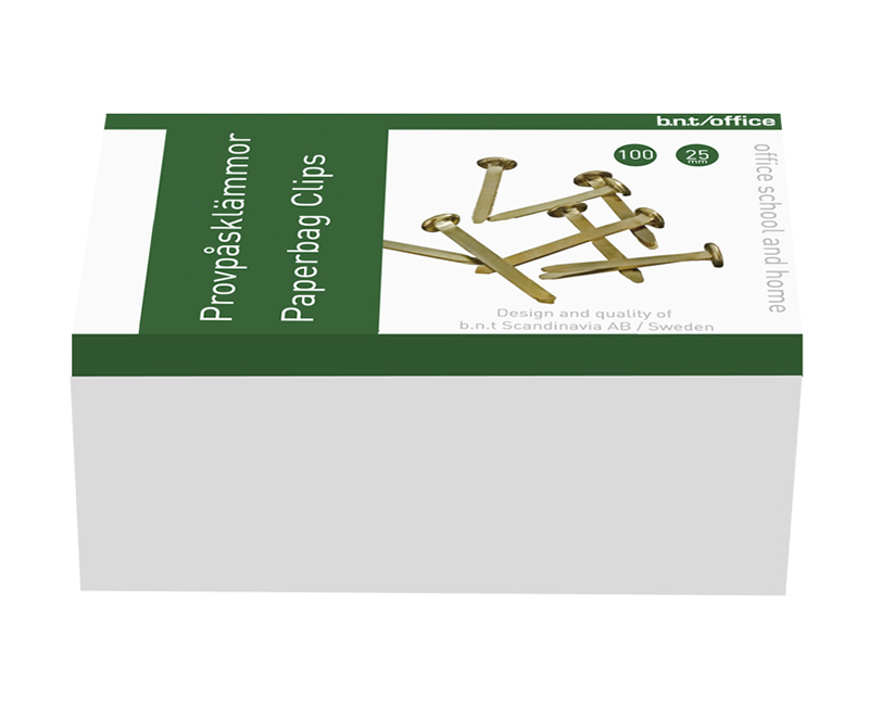 Metalclips - 25mm, 100 stk. clips - Guld
