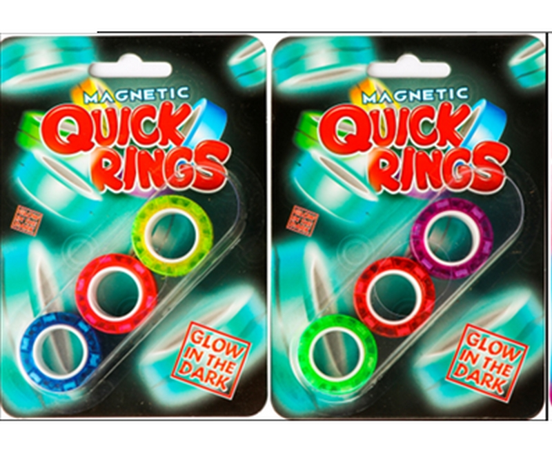 Magnetic Quick Rings 3 pack - Glow in the dark