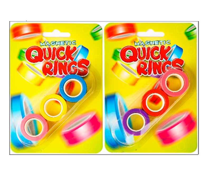 Magnetic Quick Rings 3 pack - Neon