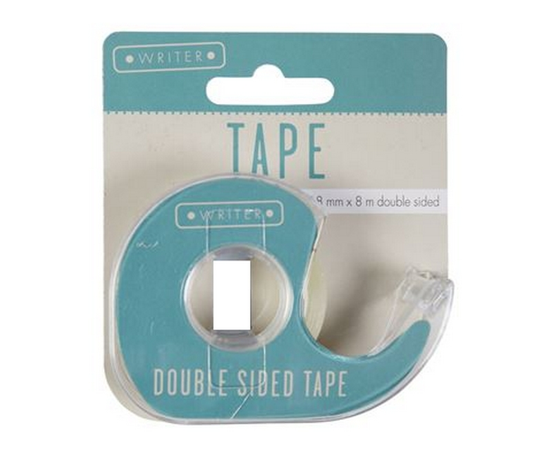 Dobbeltklæbende tape med holder - 18mm x 8m