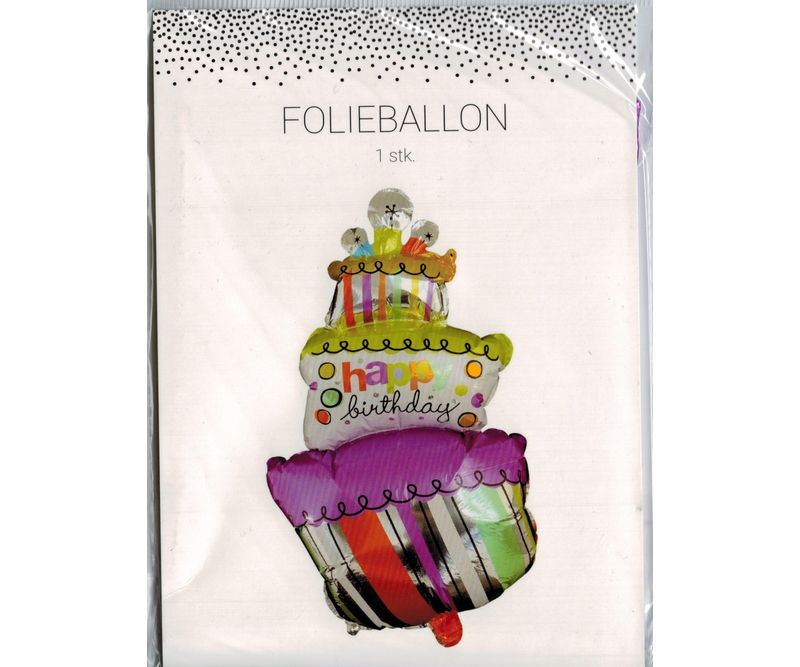 Folie ballon LAGKAGE (Happy Birthday) - 60 cm