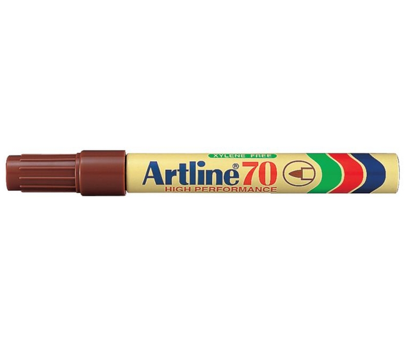 Artline 70 marker, Permanent marker 1,5mm - Brun