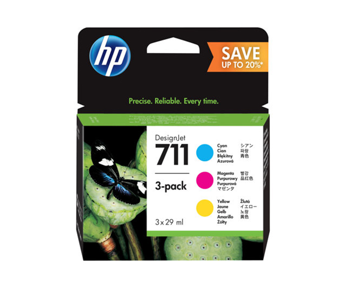 HP 711 28ml Ink Cartridge CMY 3-Pack