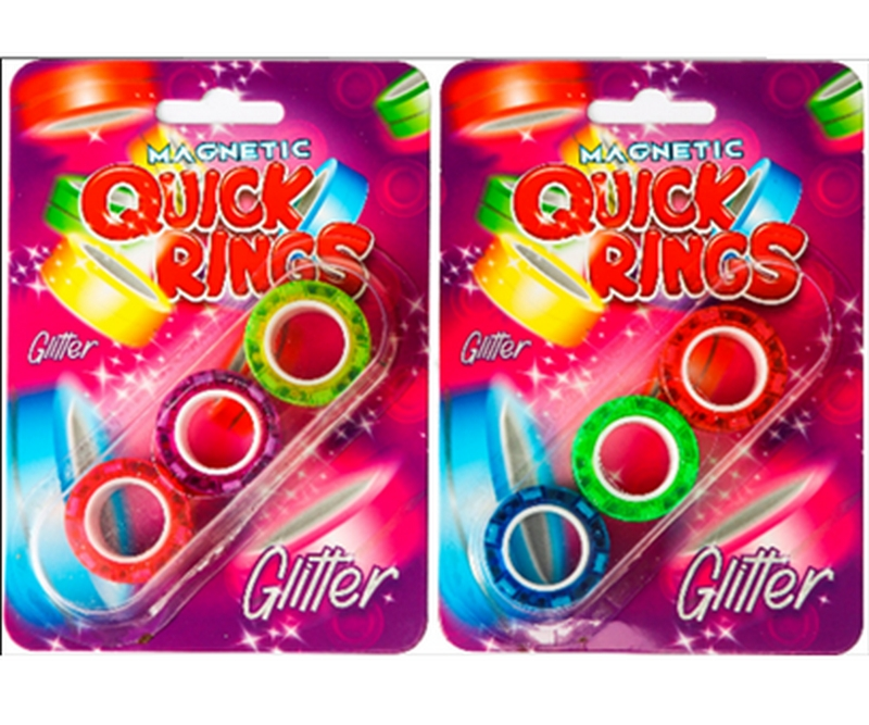 Magnetic Quick Rings 3 pack - Glitter