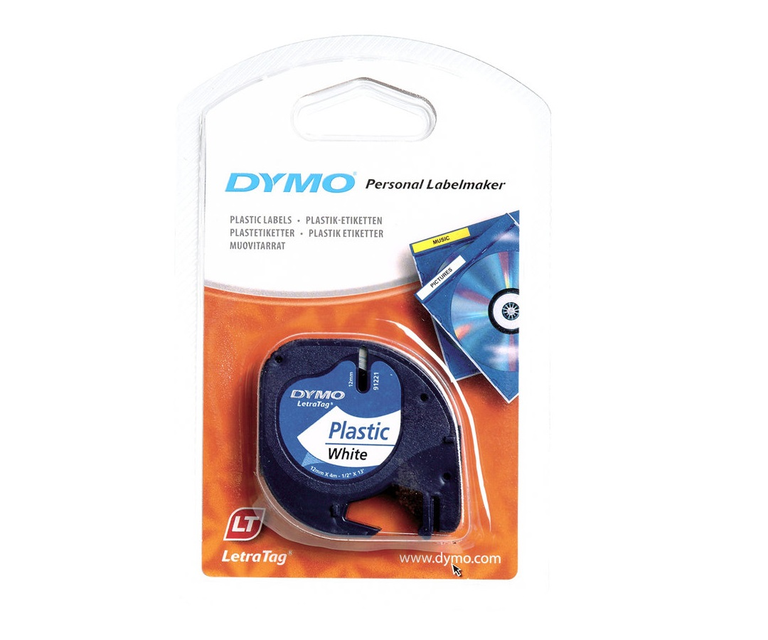 DYMO LetraTAG Tape (1,2 cm x 4 m) 1rulle