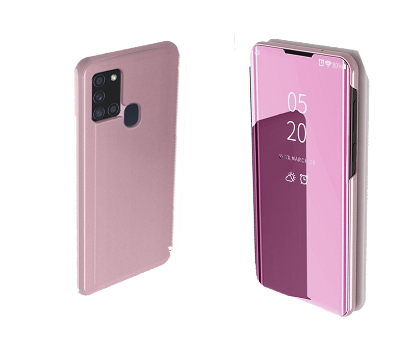 Samsung Galaxy A21s - Clear View Standing Cover - Rosa