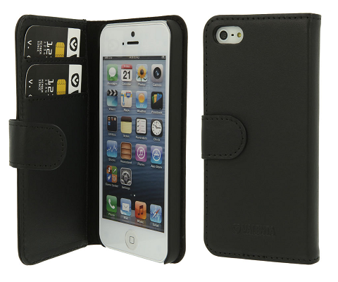 Valenta Booklet Classic Luxe Black iPhone 5/5S/SE