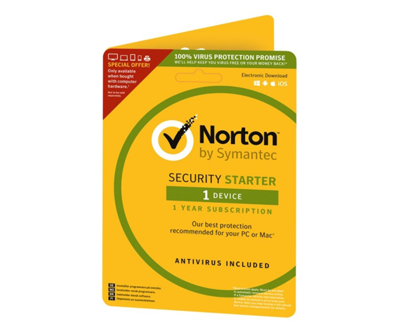 Norton Security Starter (v.3.0) 1 år - 1 enhed
