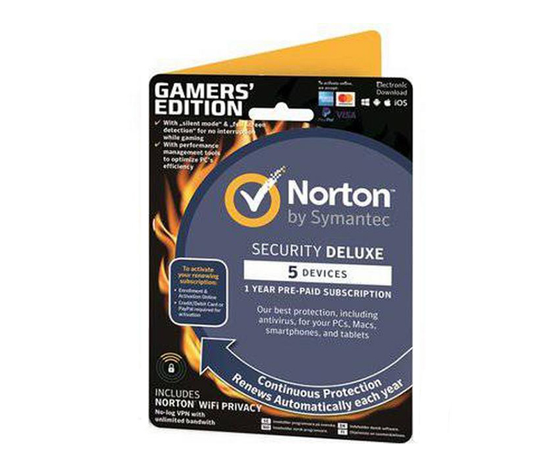 Norton Security Deluxe (v.3.0) 1 år - 5 enheder