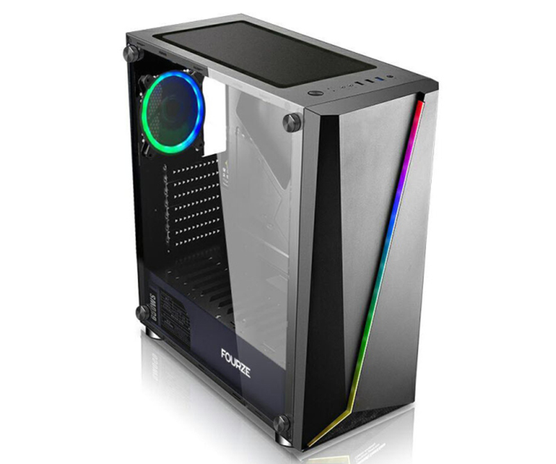 Fourze - T450 ATX Case - Sort - 205x432x490mm